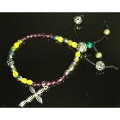 bracelet tibetain créateur avec croix