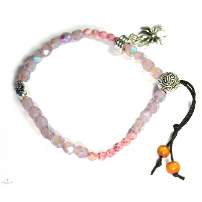 Bracelet tibetain rose