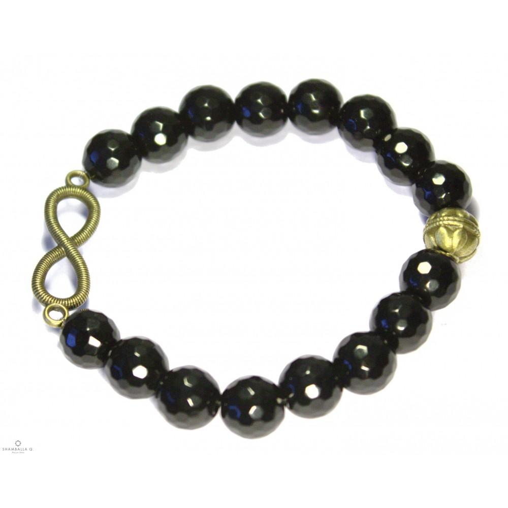 shamballa paris bracelet infini noir 321. Black Bedroom Furniture Sets. Home Design Ideas