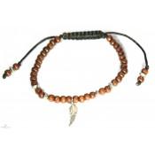 Le bracelet tibétain en bois marron