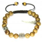 bracelet shamballa en bois