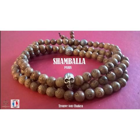 Le bracelet perles bois