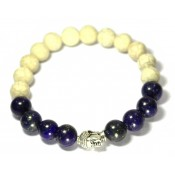 bracelet en lapis lazuli et bouddha
