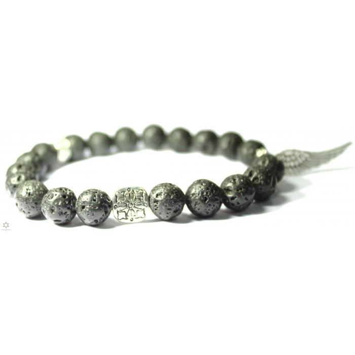 bracelet bouddhiste perle de lave