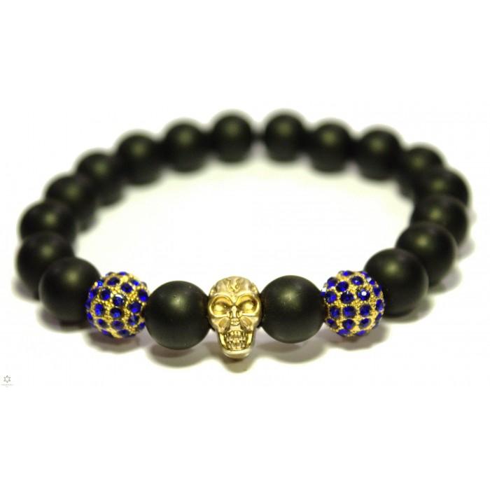 bracelet mala bouddhsite onyx
