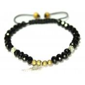 bracelet shamballa cristal swarovski noir