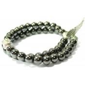 bracelet double en hématite