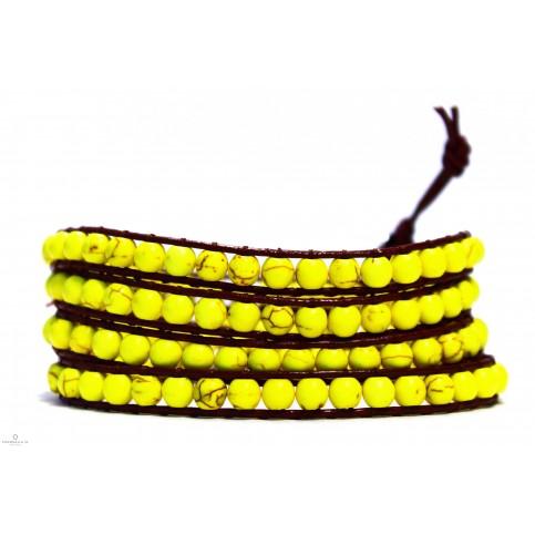 bracelet wrap a enrouler jaune
