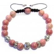 bracelet rhodonite shamballa femme