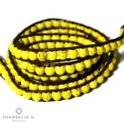 bracelet multirang wrap bijoux jaune