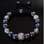 bracelet shamballa perle hématite luxe