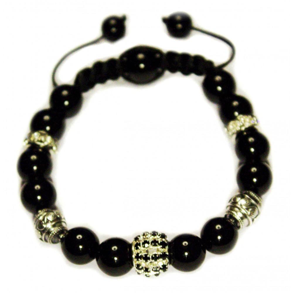 l 39 onyx luxe sq perles sur cordon homme et femme 407. Black Bedroom Furniture Sets. Home Design Ideas