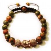 bracelet shamballa tete de bouddha