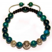 bracelet shamballa perle en azurite