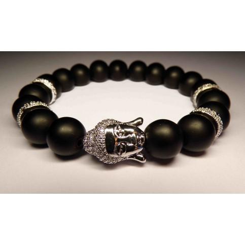 Le bracelet bouddha argent et onyx