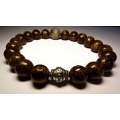 bracelet bouddhsite en bronzite