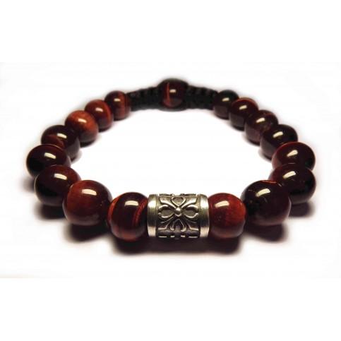 Le bracelet oeil de tigre rouge SQ