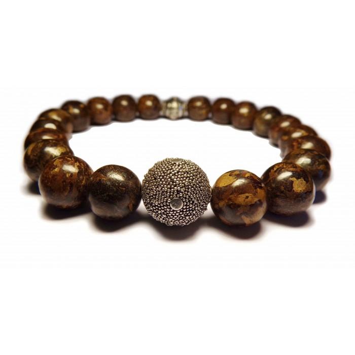 bracelet bronzite bouddhiste