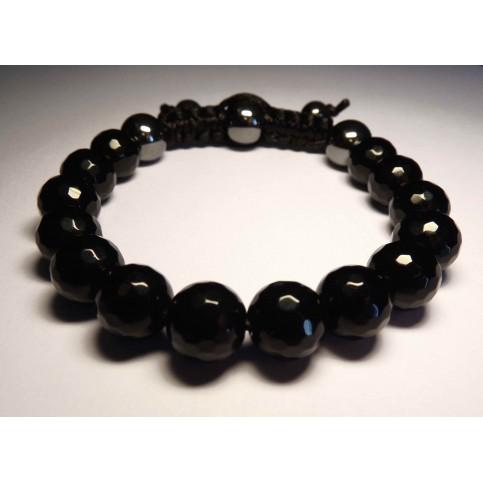 shamballa homme bracelet noir onyx