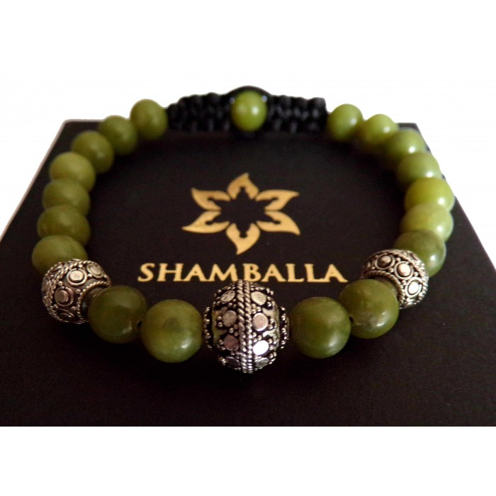bracelet shamballa jade vert