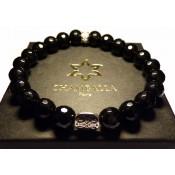 bracelet noir pierre onyx
