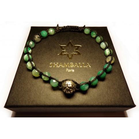 bracelet shamballa agate africaine verte