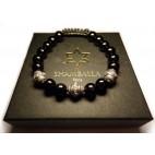 bracelet perles noir - shamballa luxe