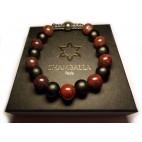 bracelet shamballa de perles en jaspe poppy marron