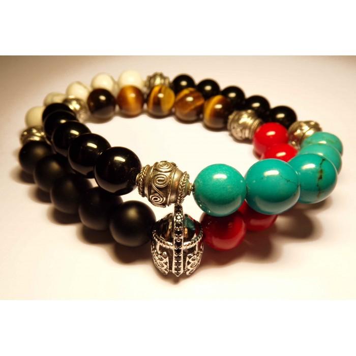 Le bracelet tibetain shamballa double