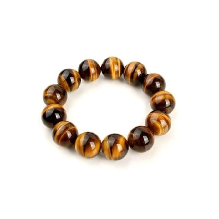 oeil de tigre 12mm bracelet élastique