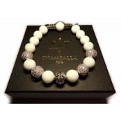 shamballa bracelet perle jade blanc pour femme