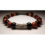 bracelet shamballa karma avec tube en argent