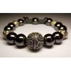 bracelet shamballa perles en hematite luxe
