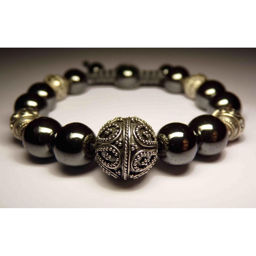 le bracelet h matite luxe perles sur cordon homme et femme 553. Black Bedroom Furniture Sets. Home Design Ideas