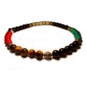 bracelet perles multicolors