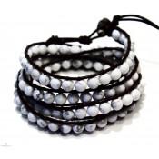 bracelet multirang bijoux a enrouler blanc