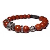shamballa bracelet perle jaspe rouge