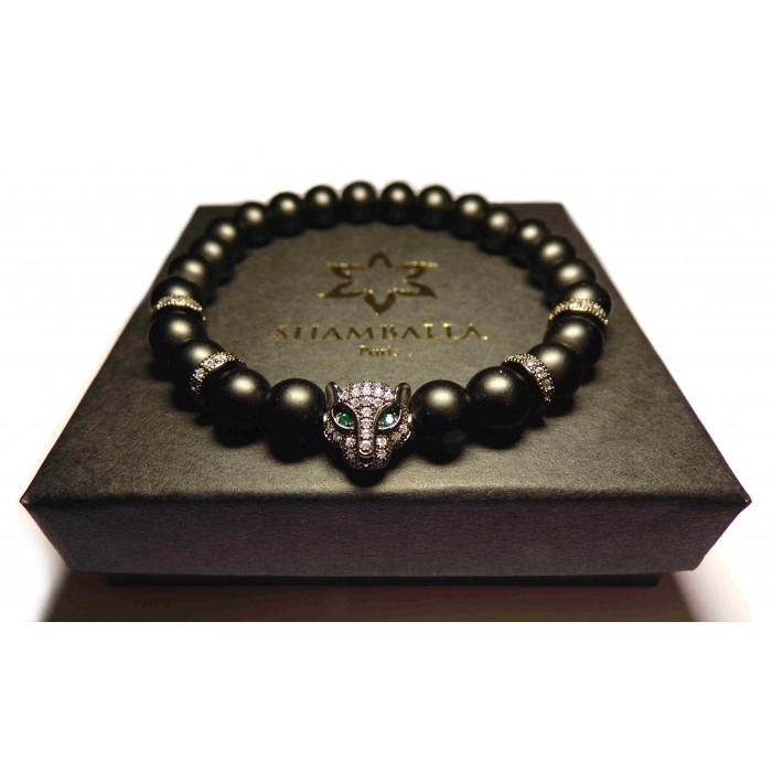 bracelet tibetain perles noir luxe
