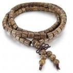 bracelet perles abacus en bois bouddhiste marron