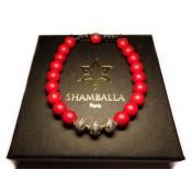 bracelet shamballa perles rouge