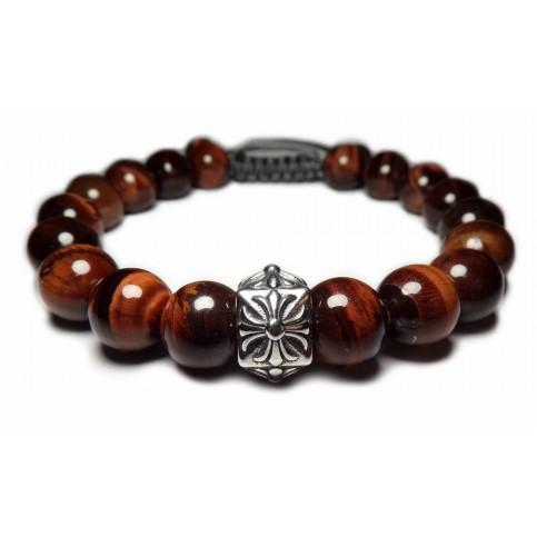 Le bracelet perle fleur de Lys argent