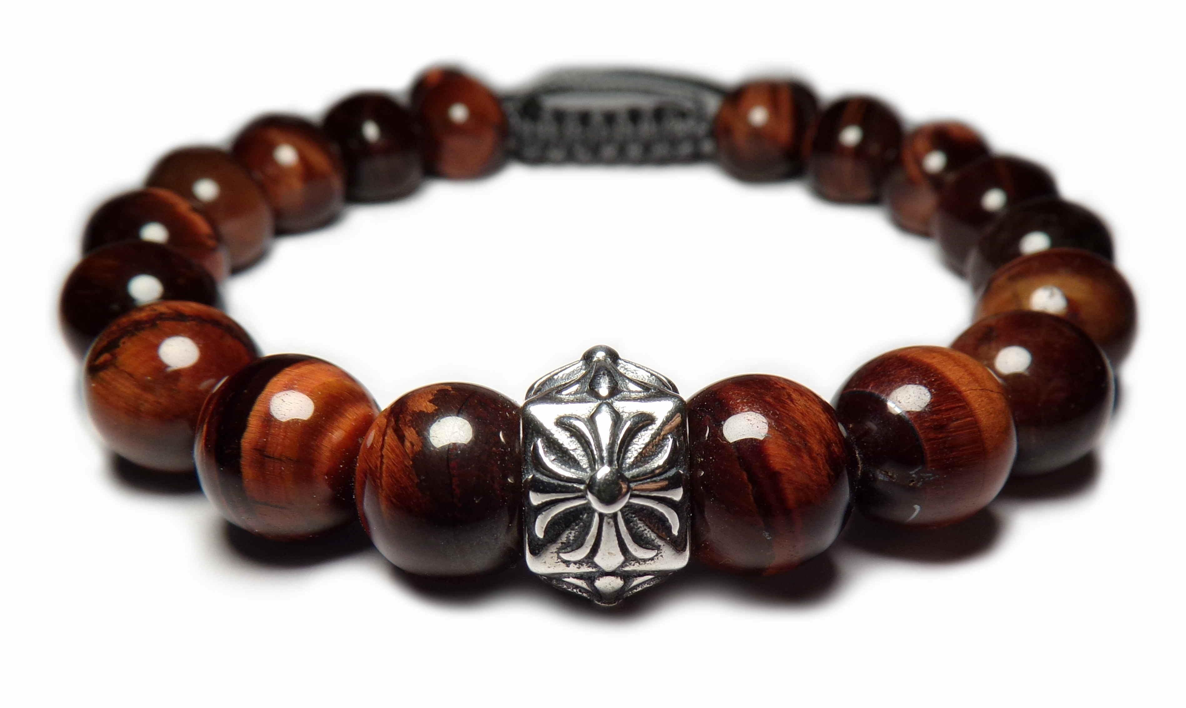 le bracelet oeil de tigre rouge perles sur lastique homme et femme 479. Black Bedroom Furniture Sets. Home Design Ideas