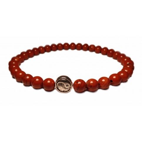bracelet avec perle yin yang en argent