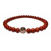 bracelet yin yang et boules rouge