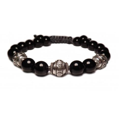 Le bracele shamballa noir