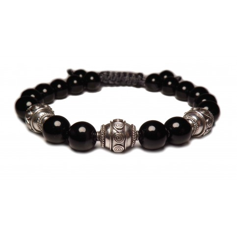 Le bracelet shamballa noir