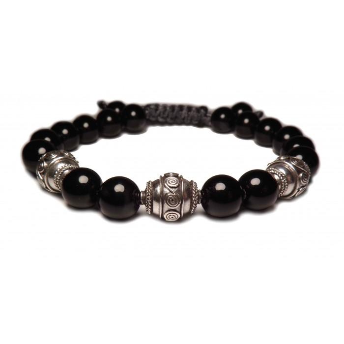 bracelet shamballa perles noir
