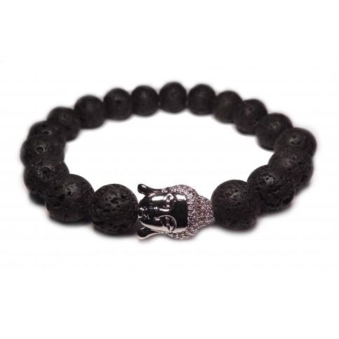 Le bracelet bouddha argent