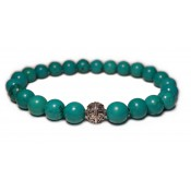 Le bracelet avec perles de turquoise bleu