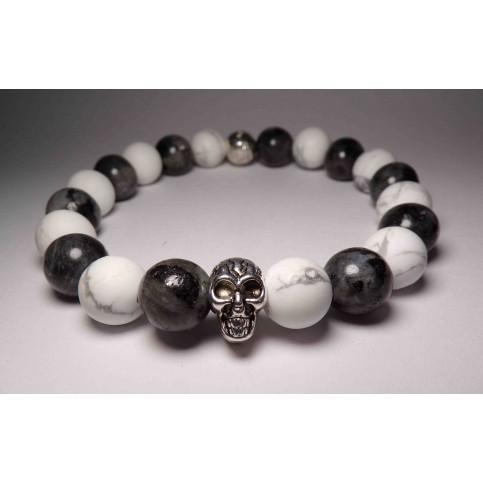 bracelet tete de mort blanc